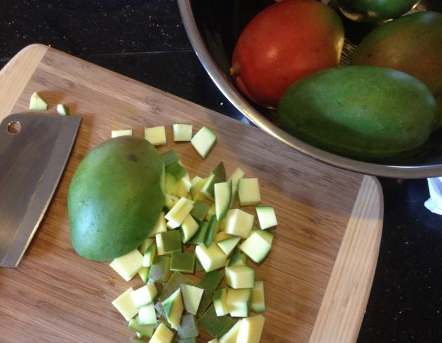 Chopping Mangos