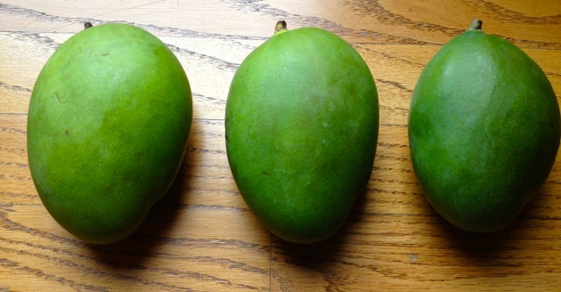 Raw Green Mangos