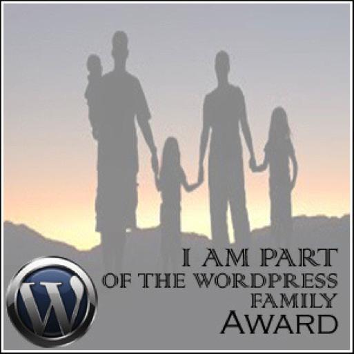 wordpress family blog award
