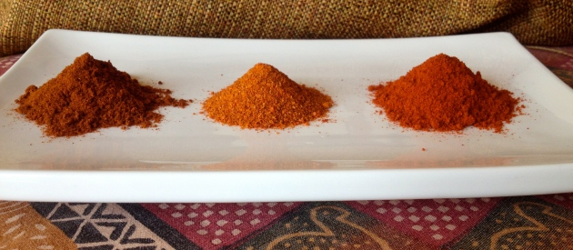 A few Varieties of Chile powder