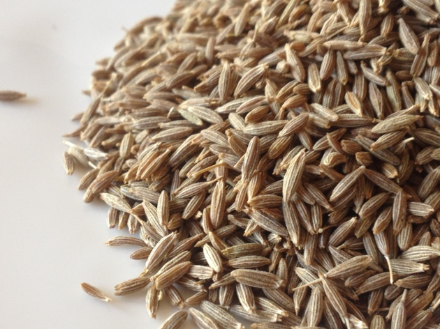 Close up of cumin seeds