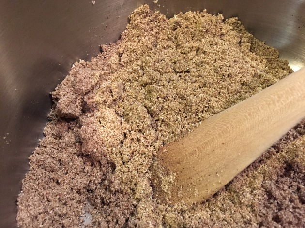 Sandy brown color of quinoa flour
